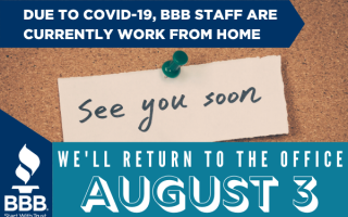 BBB Office Tentative Reopening August 3