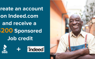 BBB Partners with Indeed to Offer Companies a $200 Credit for Sponsored Job Postings